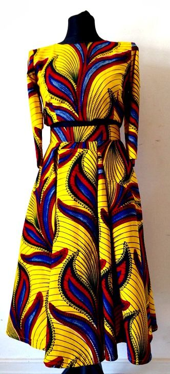 Crop Top and Midi length African Print Skirt. Standout in style in this stylish…