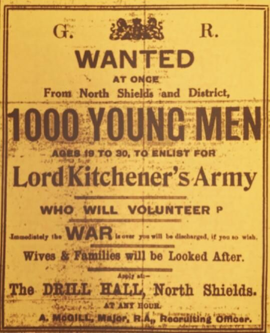North Shields recruiting poster