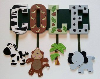 items similar to zoo animal name sign 4 letters custom | Baby