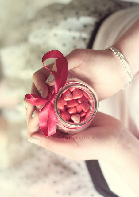 Treasures to Hold ~ pink candy hearts