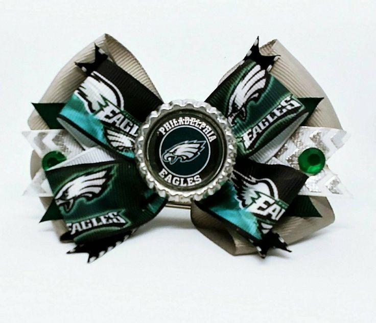 Philadelphia Eagles NFL Champions Football Hair Bow Headband Super Bowl by Tutus4Tails on Etsy