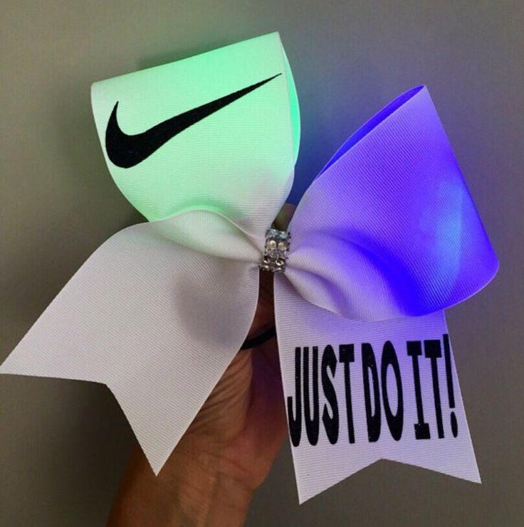 Just Do It Light Up color changing Cheer Bow swoosh Rainbow