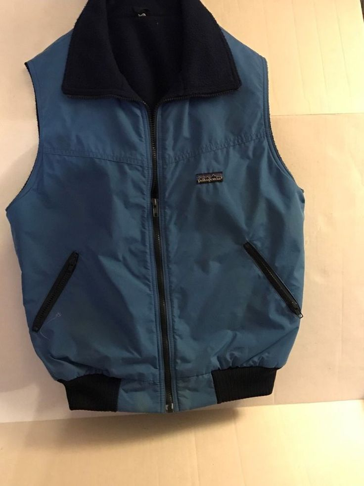 PATAGONIA MEN'S INSULATED ZIP FRONT VEST SZ M #PATAGONIA #WINTERVEST