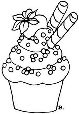 Superb Coloring Pages Of Cupcakes
