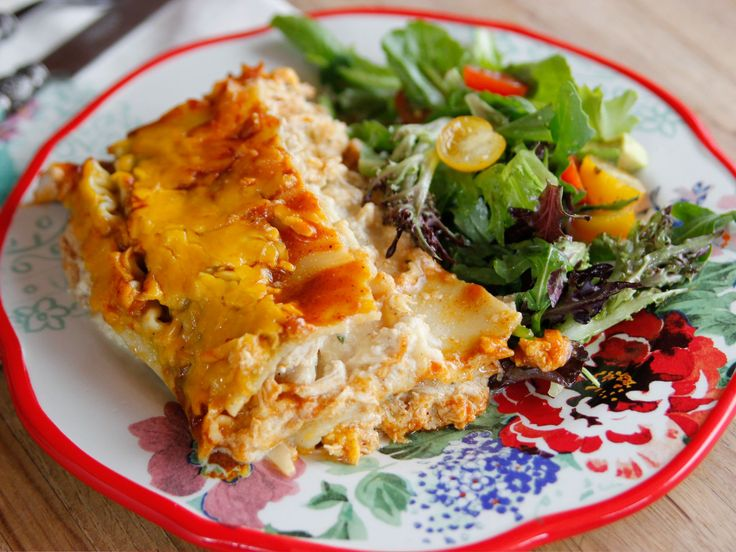 Chicken Enchilasagna recipe from Ree Drummond via Food Network                                                                                                                                                                                 More