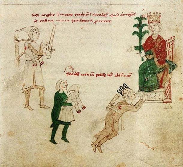 Holy Roman Emperor Henry VI grants a pardon to Richard I of England.
