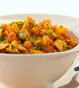 Africa's curried cabbage braise