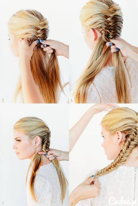 Hair style: French Braids, Diy Hairstyles, Fish Tail, Braids Tutorials, Hair Tutorials, French Fishtail, Hairstyles Tutorials, Fishtail Braids, Hair Style