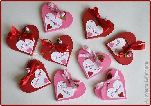 Открытка Поделка изделие Поздравление Валентинов день Валентинки - бонбоньерки фото 3