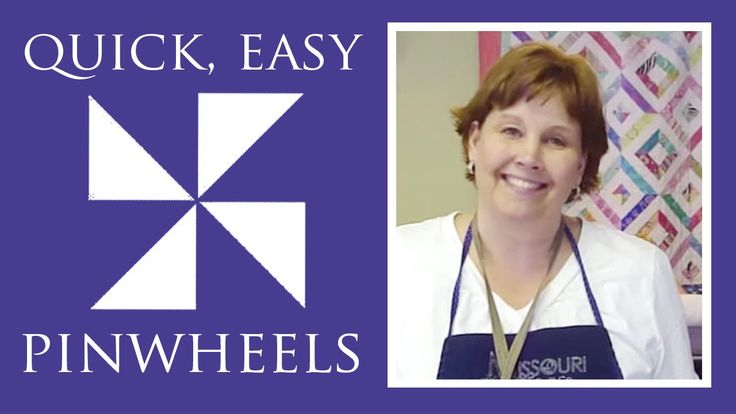 http://missouriquiltco.com - How to make pinwheels for a quilt the easy way! Follow this link to our shop for a HUGE selection of charm packs, perfect for pi...