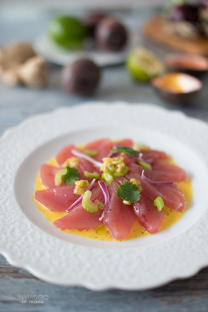 Cebiche di tonno con frutto della passione