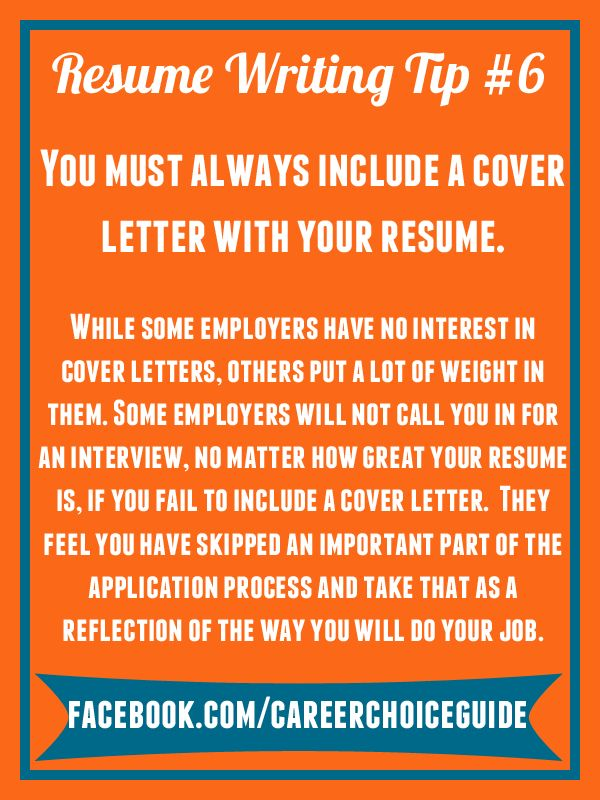 31 best quick job search tips from career choice guide images on resume writing quick tip you must always include a cover letter with your resume spiritdancerdesigns Gallery