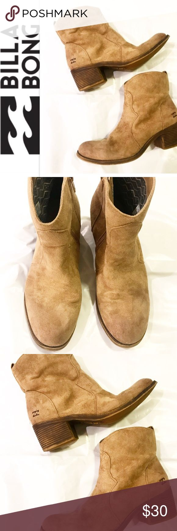 Billabong brown boots size 10 Billabong brown ankle boots size 10.  Pre-owned with some wear but in overall good condition! Billabong Shoes Ankle Boots & Booties