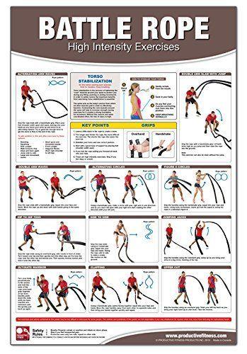 Battle Rope Poster/Chart: High Intensity Training: Becky Swan, Michael Jespersen, Michael Hutchison: 9781926534800: Amazon.com: Books: