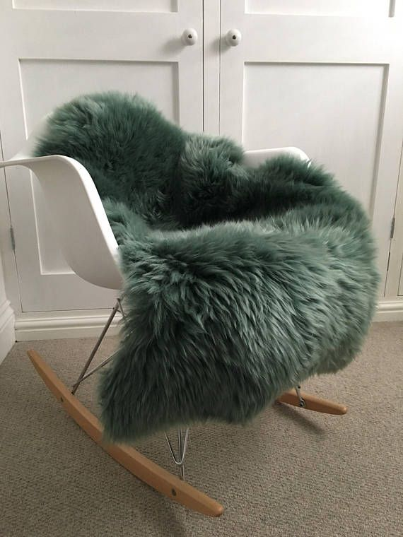 This gorgeous mid green sheepskin Rug is new to our collection . It is a soft moss green and would compliment a neutral interior perfectly
