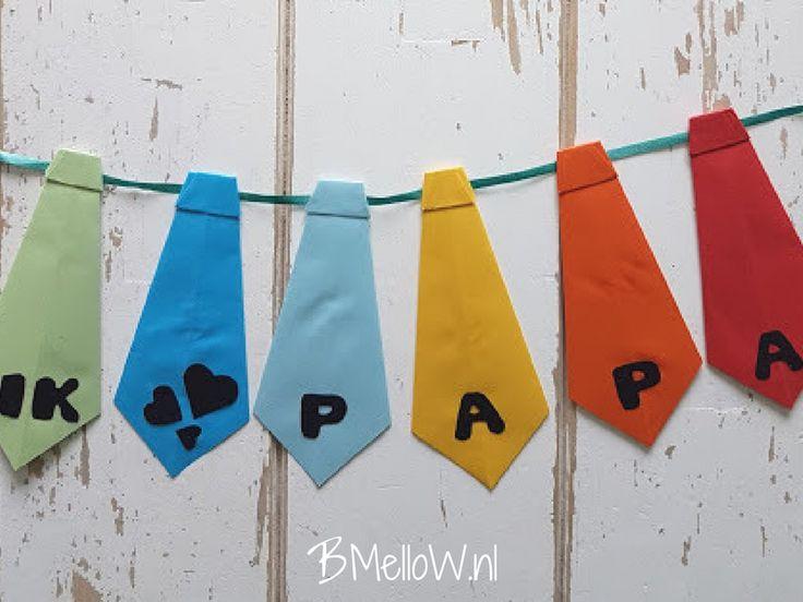 Stropdas slinger voor Vaderdag. Ik hou van papa. BMelloW.nl