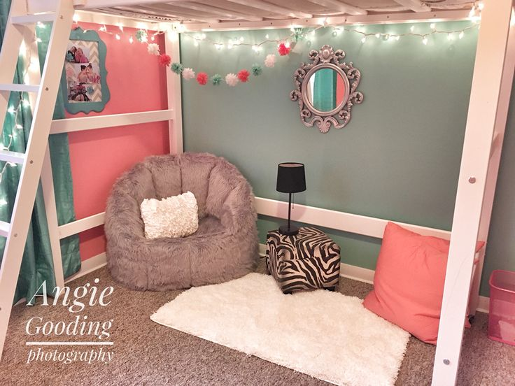 Our tween loft bed bedroom makeover sitting area reading nook coral teal  gray. Best 25  Coral girls bedrooms ideas on Pinterest   Coral girls