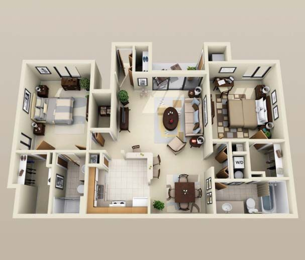 3D+Small+Home+Plans+Under+1000+sq+ft