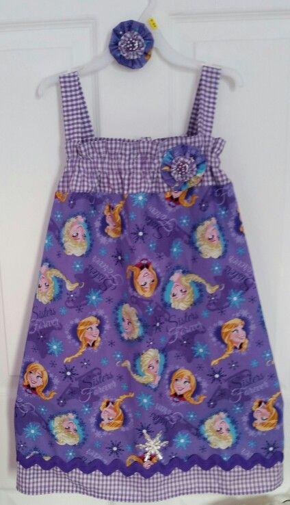 Frozen dress by Julia's Bowtique facebook page