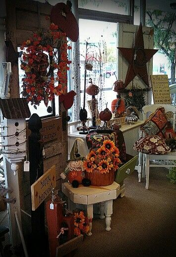 More Great Primitive Fall Decor Available In Store At Ann