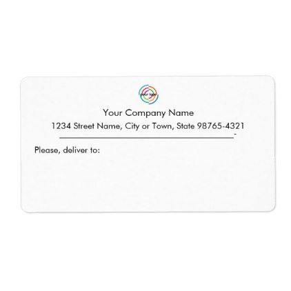 Add your Custom Logo custom Business address Label - business template gifts unique customize diy personalize