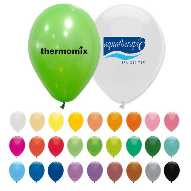 Globos publicitarios con impresión de logotipo y datos de empresa. Ahora con más colores y siempre en la máxima calidad de marcaje.
