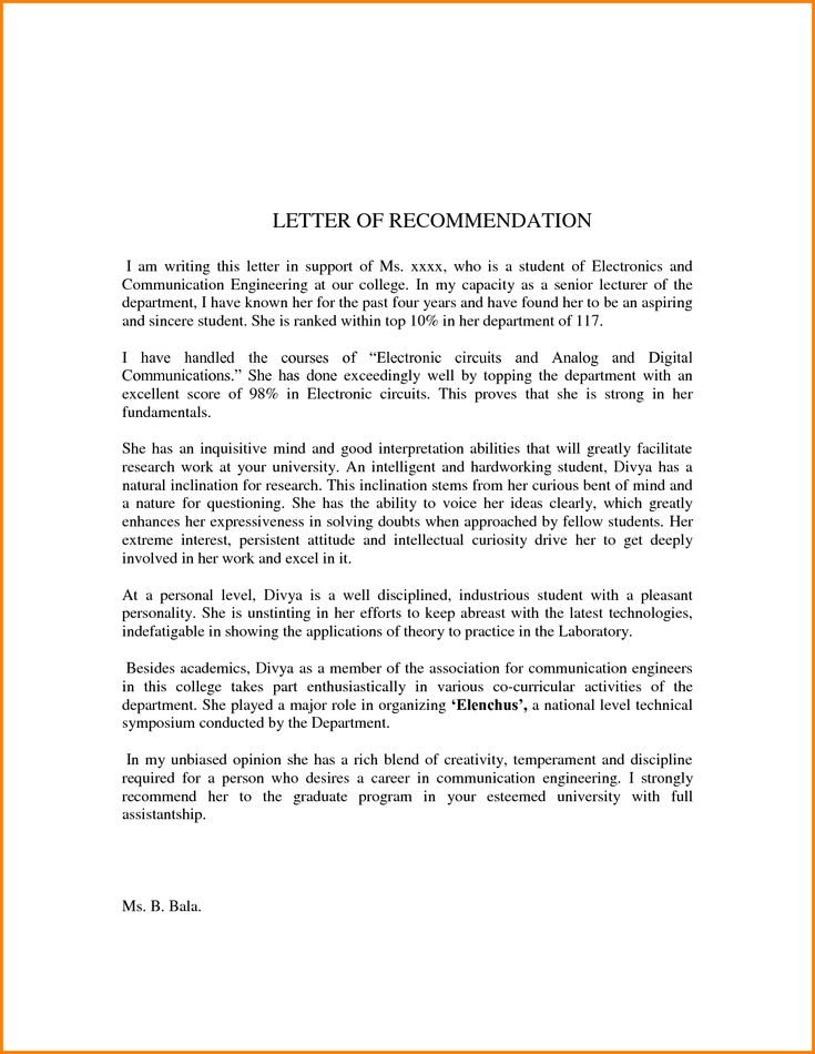 10+ letter of recommendation examples for students | quote templates