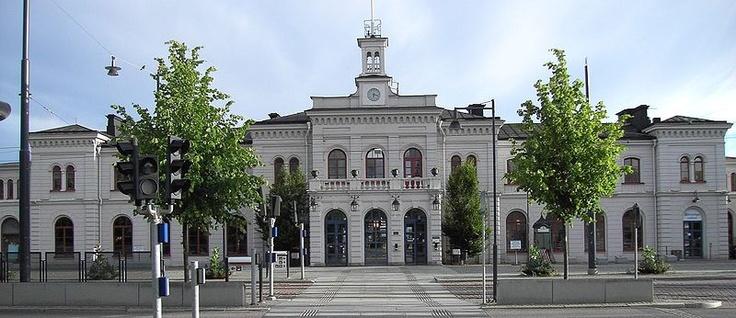 Järnvägsstationen i Norrköping. The train station in Norrköping.