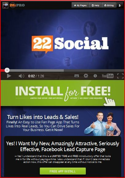 Everybody has a message they want to get out... 22 Social lets you stream live video, searchable content, via Facebook to reach millions of people!  Simulcast YOUR message in more than one place at the same time. Try for Free!
