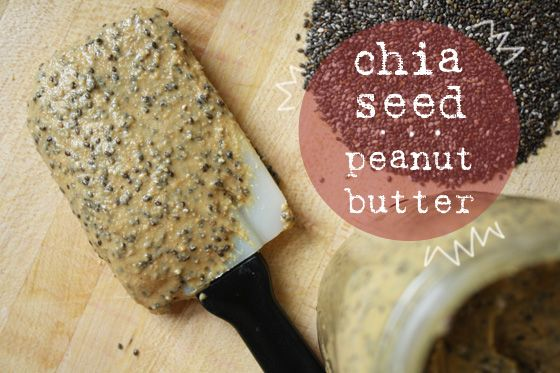 Chia Seed Peanut Butter — finally use the rest of those chia seeds I can't choke down anymore \\