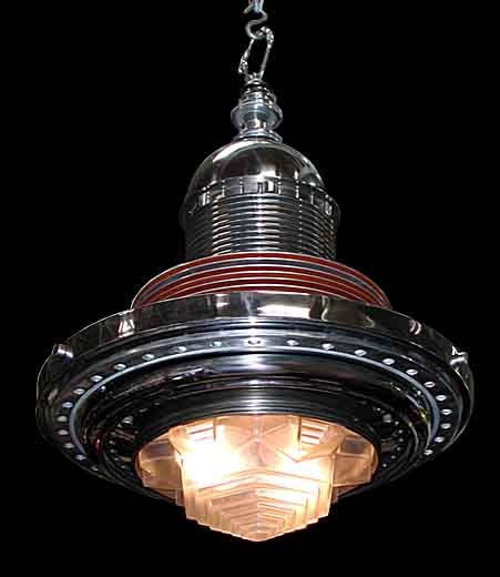 Beautiful Art Deco/Machine Age Chandelier