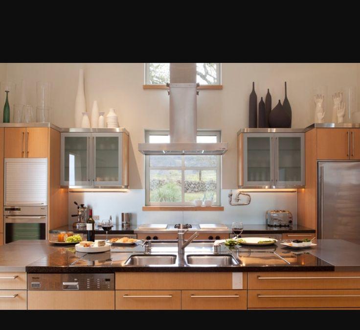 LuxusküchenModerne KüchenLuxus  InterieurInnenarchitekturKüchenbeleuchtungBeleuchtungsideenInselKüchen