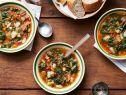 Get this all-star, easy-to-follow Winter Minestrone and Garlic Bruschetta recipe from Ina Garten