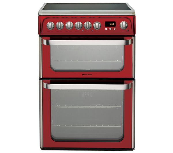 HOTPOINT DUE61R Electric Ceramic Cooker - Red
