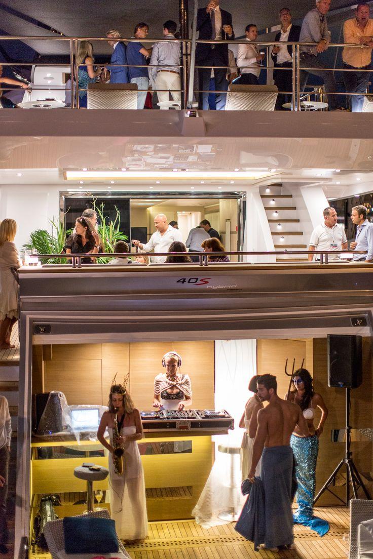 Luxury superyacht keyla interior by hot lab luxury yacht charter - Columbus Sport Hybrid Party In Monaco Cocktailpartymonacoyacht Interiorsea