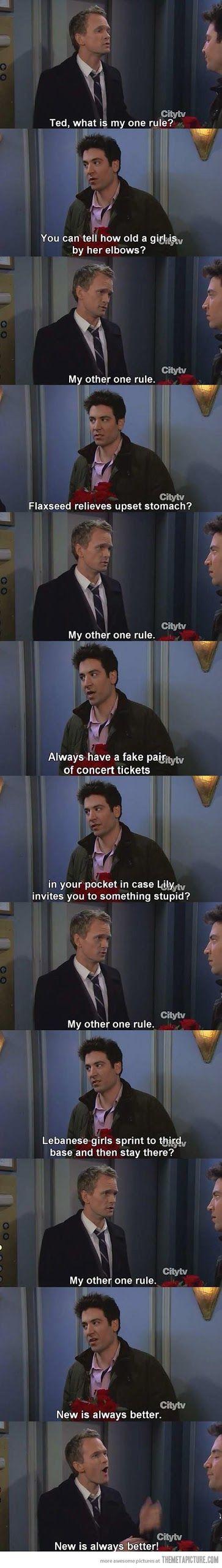 Barney Stinson's one rule