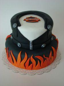 Harley Davidson Leather Jacket Cake
