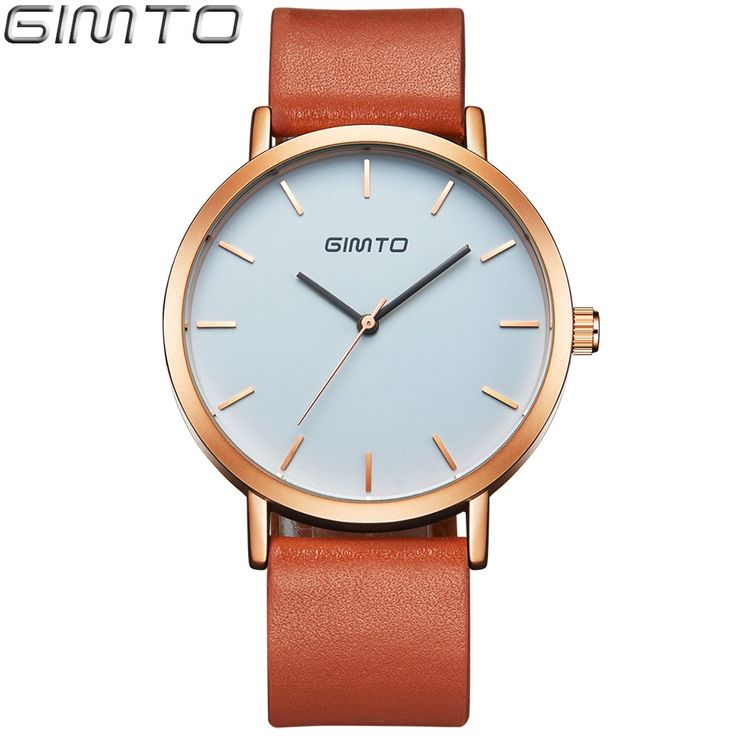 14.98$  Watch now - http://alimzf.shopchina.info/go.php?t=32751158943 - GIMTO Mens Watches Top Brand Luxury Waterproof Leather Man Simple Classic Watch Business Men watch reloj hombre marca de lujo   #aliexpresschina