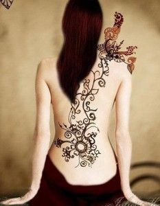 Mehndi Tattoos For Girls