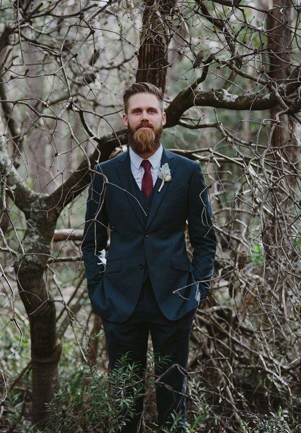 CLAIRE + DAVID // #groom #wedding #ceremony #reception #suit #navy #tie #classic…