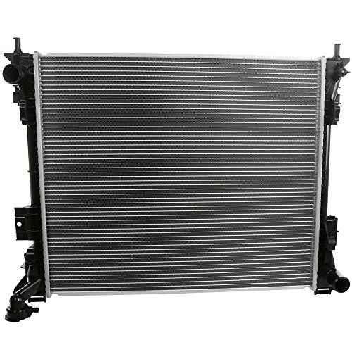 Prime Choice Auto Parts RK1227 Aluminum Radiator  High quality, brand new radiators  Built to vehicle specific design specifications  100% leak tested  Only the highest quality materials are used in our manufacturing process to ensure extended life  Drop in - Direct fit for easy installation