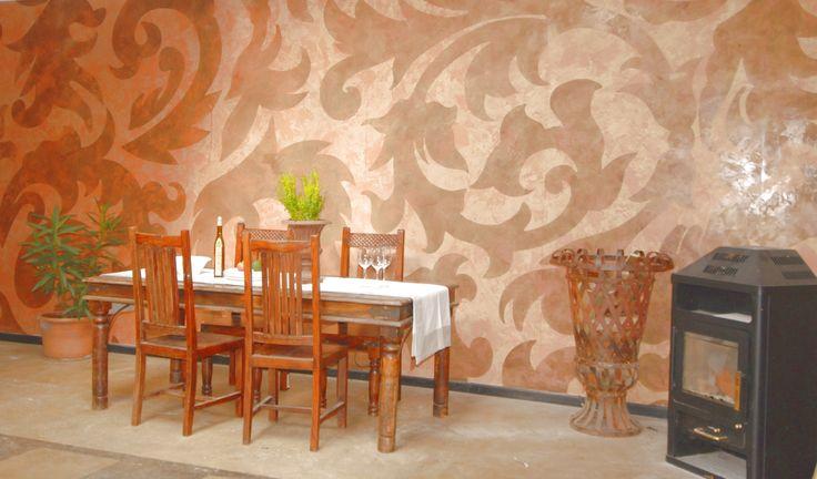 17 best images about wandgestaltung mit schablonen on. Black Bedroom Furniture Sets. Home Design Ideas