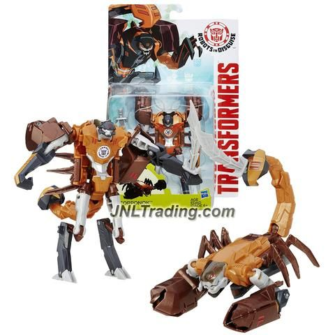 "Hasbro Year 2015 Transformers Robots in Disguise Animation Warrior Class 5-1/2"" Tall Figure - Decepticon SCORPONOK with Sword (Beast: Scorpion)"