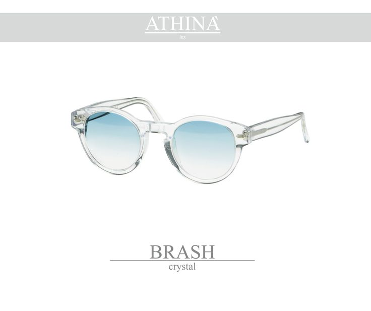Mod. BRA0101G02 Made with light, crystal transparent coloured acetate of cellulose and gradient blue lenses.