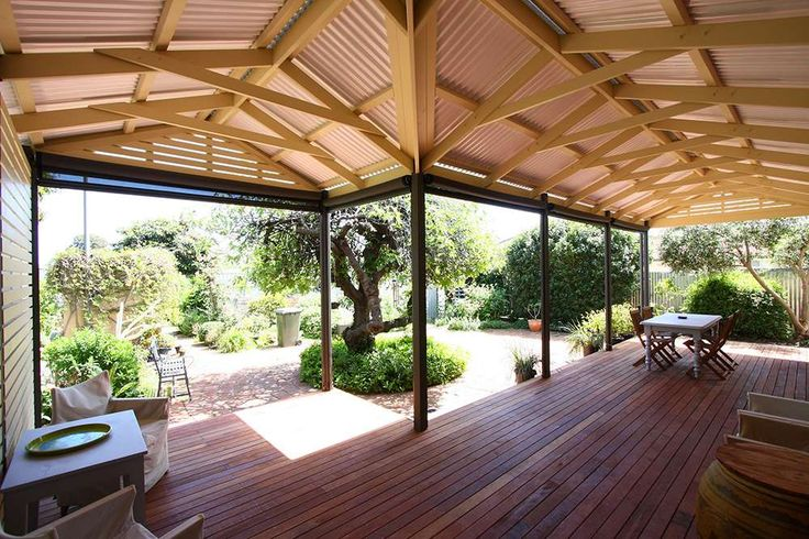 Beautiful softwood timber deck