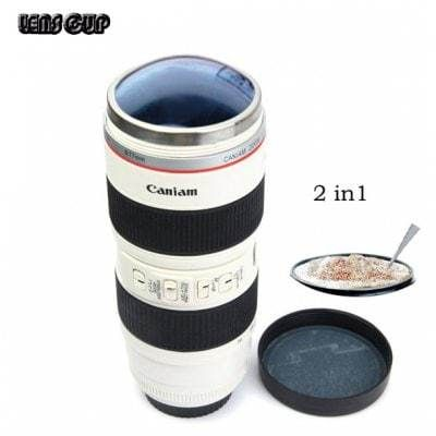 Caniam 2 in 1 Camera Lens Cup Mug Cups with EF 70 - 200mm
