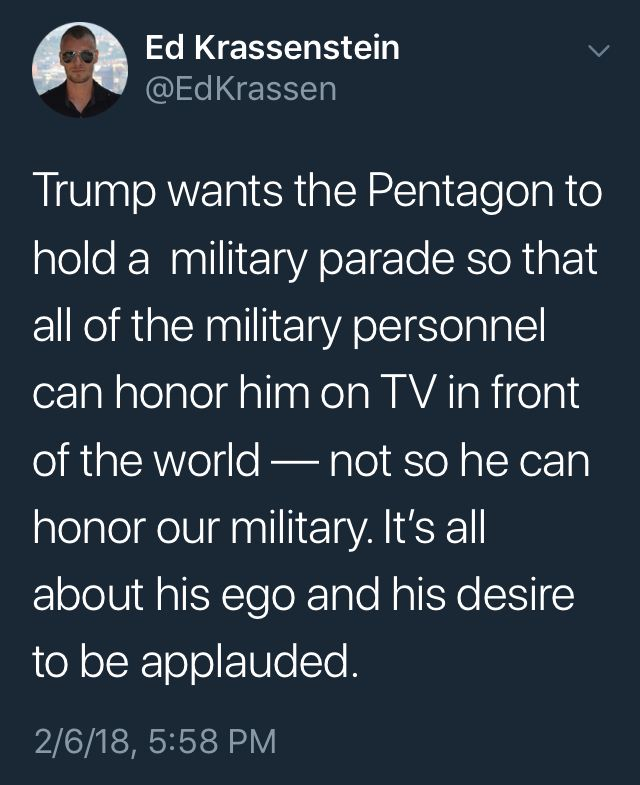 I sure hope the military just told him they would do it but that SOMEONE there has the balls to make sure it never happens.