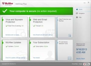 McAfee AntiVirus Plus 2014 is almost a small suite with phishing protection, firewall, and a number of features. It is definitely an efficient tool.