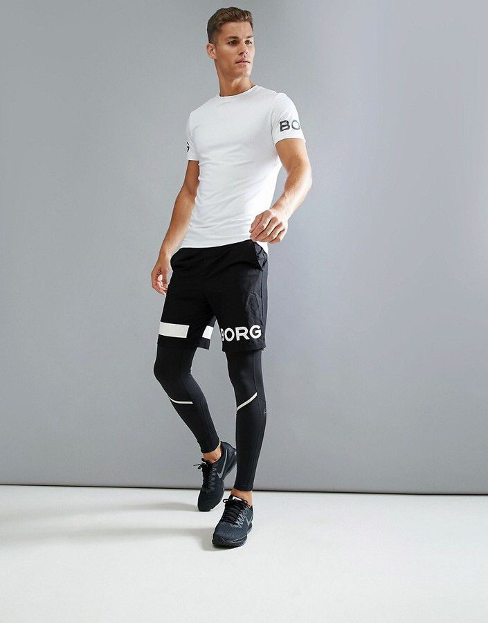 d09e8f427e Black Men's Running Tights, Compression Tights, cold weather running ...