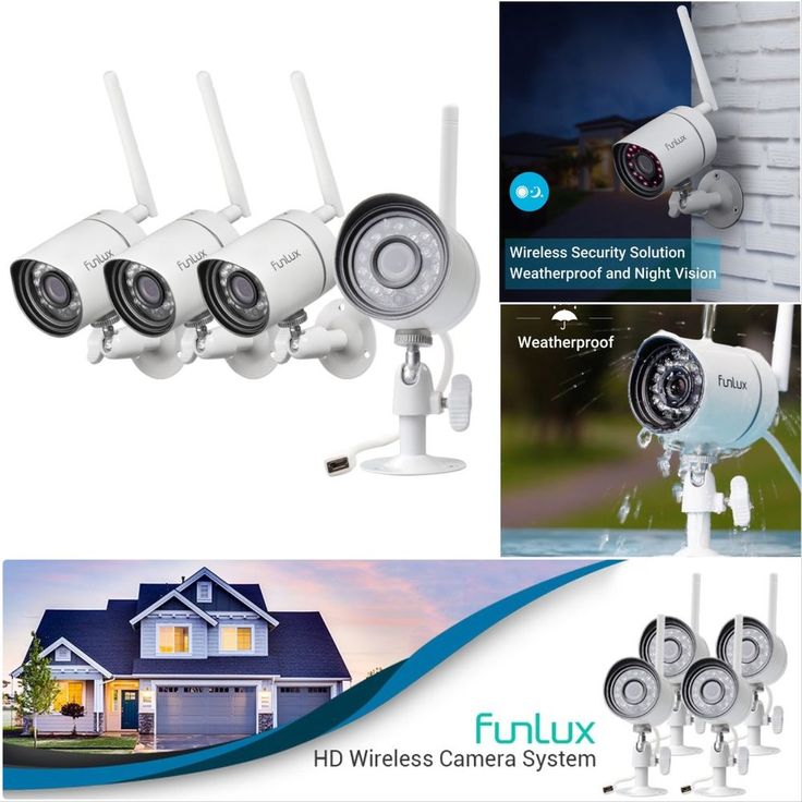 Funlux 720p HD 4 IP Wireless Outdoor IR Night Vision Home Security Camera System #Funlux